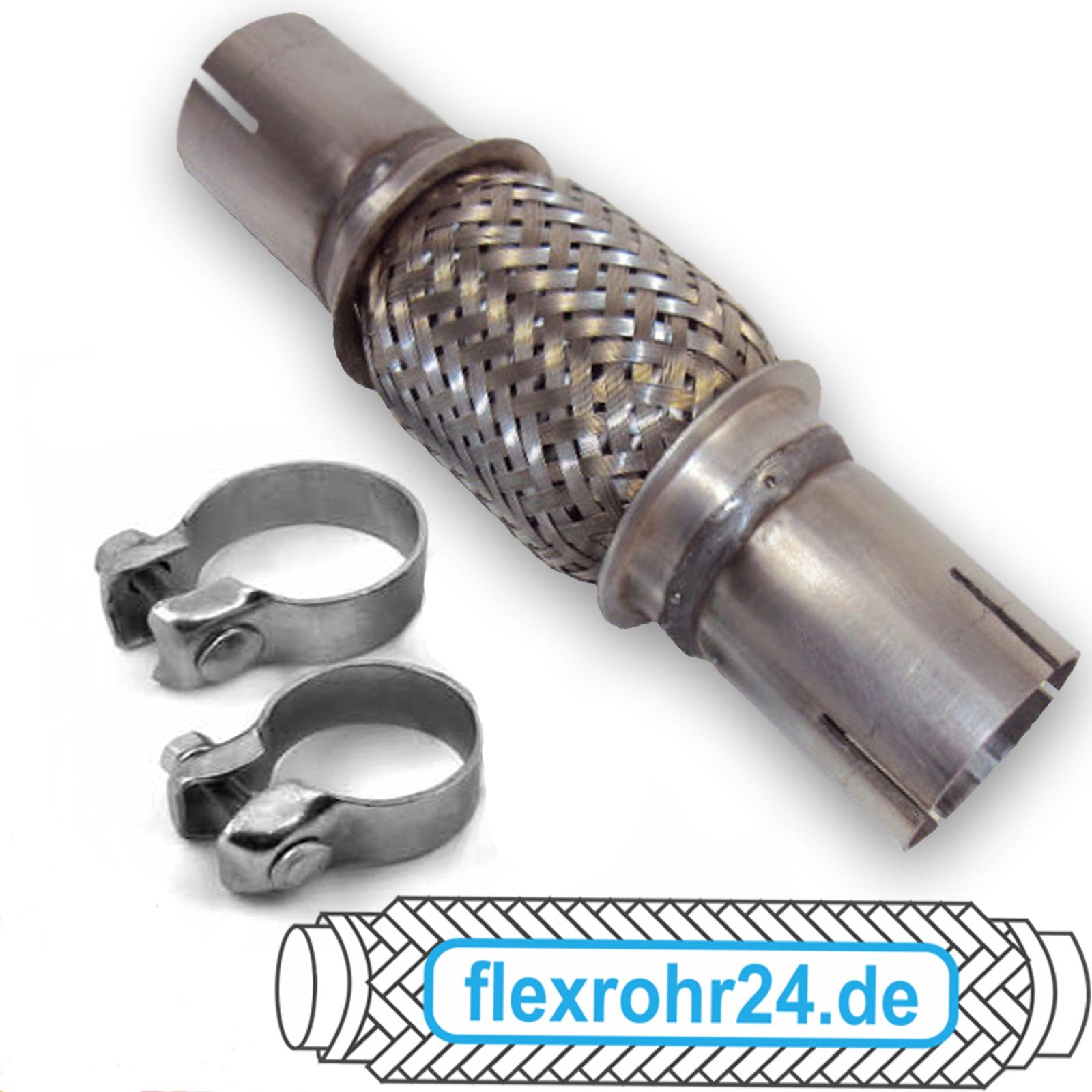 Flexrohr Flexstück Auspuff ohne Schweißen universal inkl. Schellen