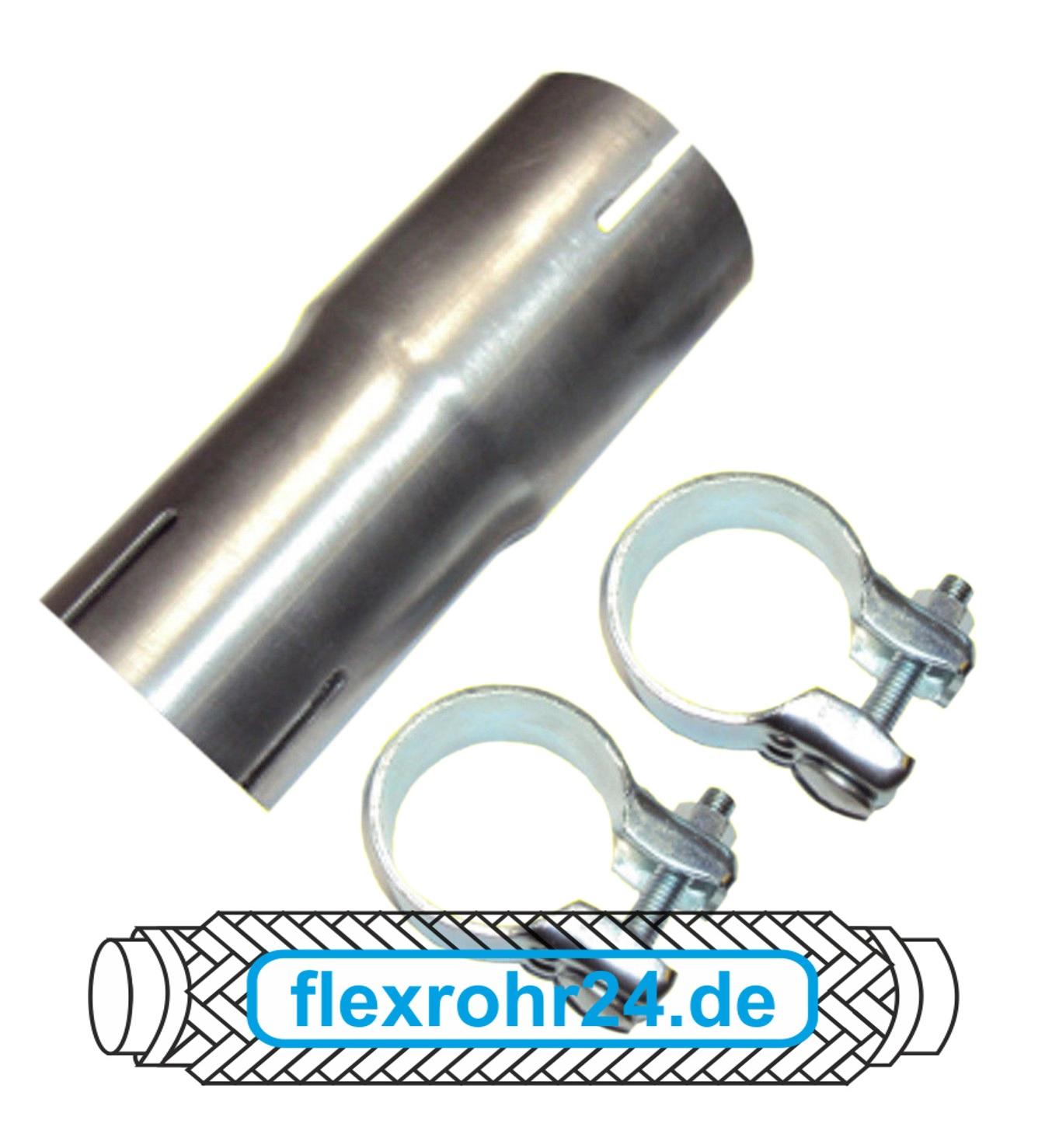 Auspuffanlage Adapter Anschluss Rohrverbinder Reduzierstück 50mm auf 45mm