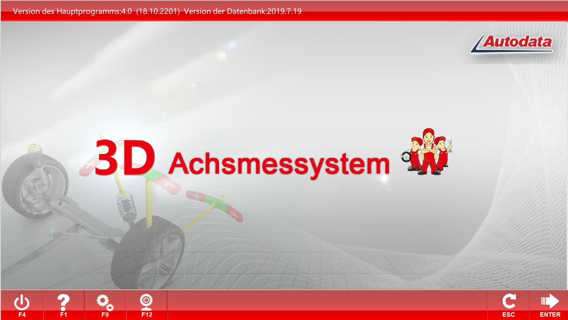3D Achsmesscomputer SF-8-W10-64Bit mit automatischen Kamerabalken