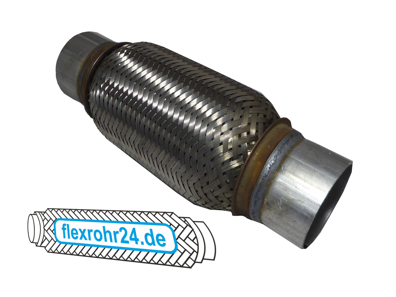 Flexrohr Flexstück flexibles Auspuff interlock mit Anschlussrohr