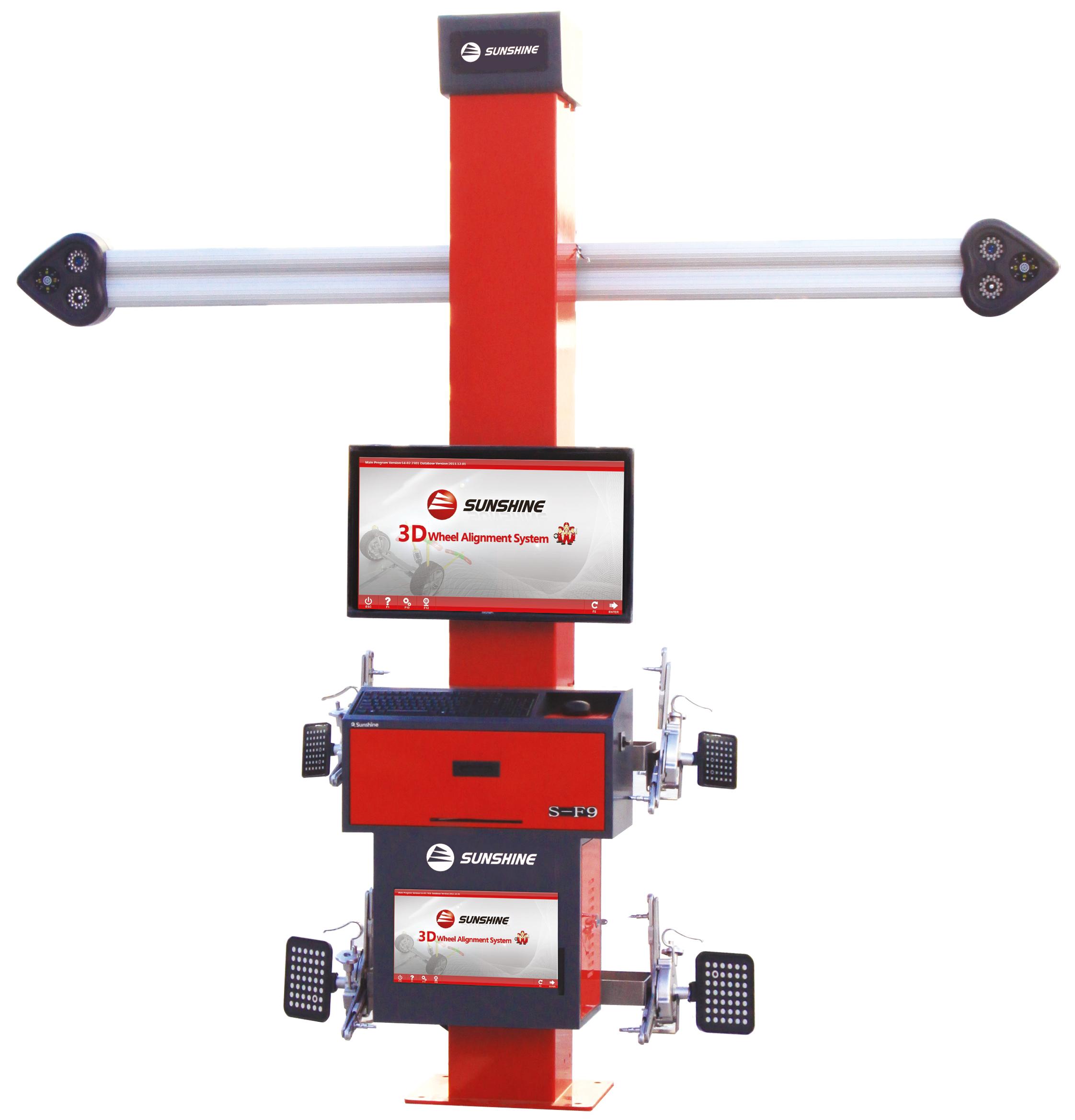 3D Achsmesscomputer SF-9-W10-64Bit mit automatischen Kamerabalken