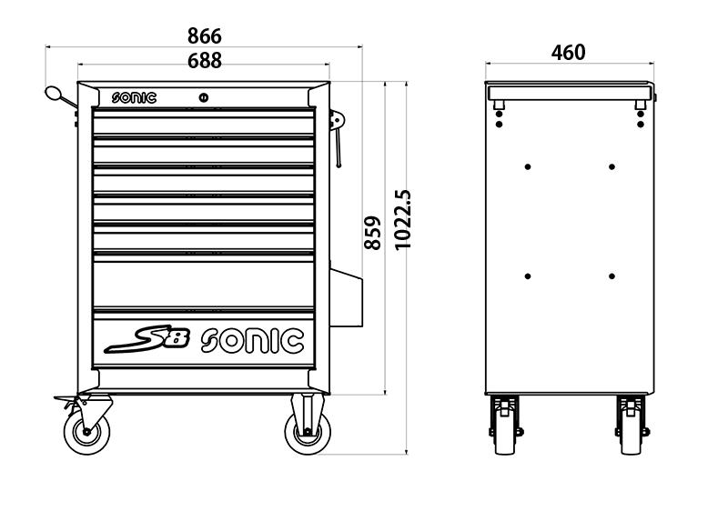 Werkstattwagen Sonic S8